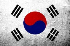 """Drapeau national de la Corée du Sud république de Corée """"Taegukgi """" Fond grunge illustration de vecteur"""