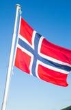 Drapeau national de la Norvège Photographie stock
