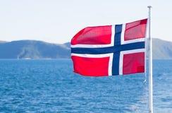 Drapeau national de la Norvège Photo libre de droits