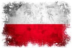 Drapeau national de la Pologne Image stock