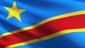 Drapeau national de la République démocratique du Congo soufflant dans le vent d'isolement Conception abstraite patriotique offic illustration stock