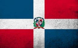 drapeau national de la République Dominicaine  Fond grunge illustration stock