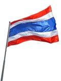 Drapeau national de la Thaïlande sur le fond blanc Images stock
