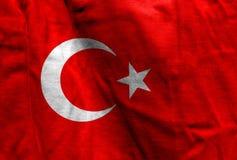 Drapeau national de la Turquie images libres de droits