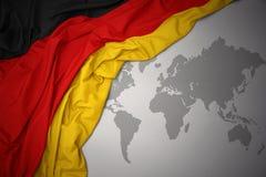 Drapeau national de ondulation de l'Allemagne Photos libres de droits