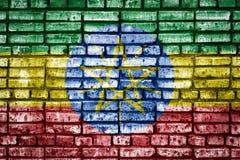 Drapeau national de Philippines sur un fond de brique illustration libre de droits