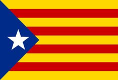 Drapeau national de vecteur Catalogne ou de Catalunya Photos stock