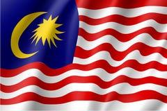 Drapeau national de vecteur de la Malaisie Image stock