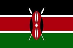 Drapeau national de vecteur du Kenya illustration stock