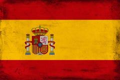 Drapeau national de vintage de fond de l'Espagne Images libres de droits