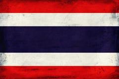 Drapeau national de vintage de fond de la Thaïlande Photographie stock libre de droits