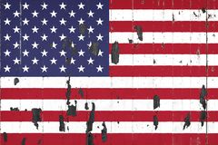 Drapeau national des Etats-Unis sur le fond illustration libre de droits