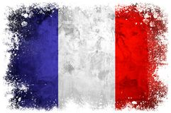 Drapeau national des Frances Image libre de droits