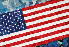 Drapeau national des USA Photographie stock
