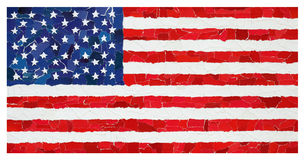 Drapeau national des USA Photo libre de droits