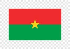 Drapeau national du Burkina Faso illustration libre de droits