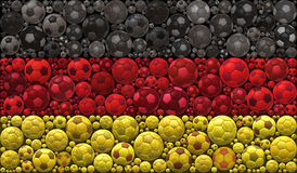 Drapeau national du concept de construction d'illustration de mosaïque de ballons de football de la république Fédérale d'Allemag Photos libres de droits