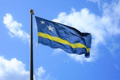 Drapeau national du Curaçao photo stock