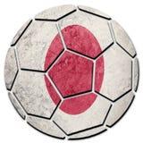 Drapeau national du Japon de ballon de football Boule du football du Japon Photographie stock