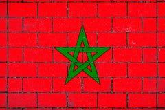 Drapeau national du Maroc image stock