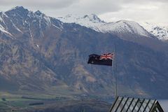 Drapeau national du Nouvelle-Zélande Photographie stock libre de droits