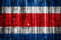 Drapeau national sur le fond en bois de texture images libres de droits