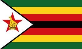 Drapeau national Zimbabwe illustration libre de droits