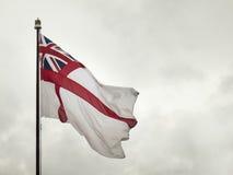 Drapeau naval britannique Photographie stock