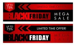 Drapeau noir de vente de vendredi illustration libre de droits