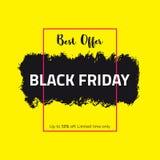 Drapeau noir de vente de vendredi Images libres de droits
