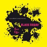 Drapeau noir de vente de vendredi Photos libres de droits