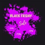 Drapeau noir de vente de vendredi Images stock