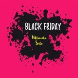 Drapeau noir de vente de vendredi Image libre de droits