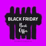 Drapeau noir de vente de vendredi Photo libre de droits