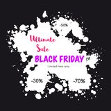 Drapeau noir de vente de vendredi Photographie stock