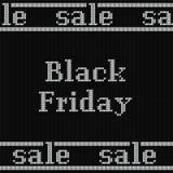 Drapeau noir de vente de vendredi Illustration de vecteur Photographie stock libre de droits