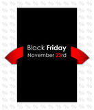 Drapeau noir spécial de vendredi Photo stock