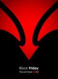 Drapeau noir spécial de vendredi Images libres de droits