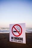 Drapeau non-fumeurs Photographie stock