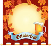 Drapeau Octoberfest Photo stock