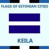 Drapeau officiel de ville estonienne Keila Photos stock