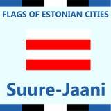 Drapeau officiel de ville estonienne Suure-Jaani Image stock