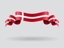 Drapeau onduleux danois Illustration de vecteur illustration libre de droits