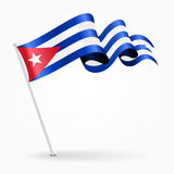 Drapeau onduleux de goupille cubaine Illustration de vecteur illustration stock