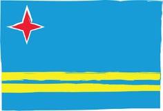 Drapeau ou bannière abstrait d'ARUBA Photos stock