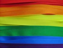 Drapeau ou bannière gai de drapeau Photographie stock libre de droits