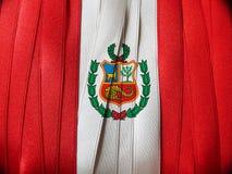 Drapeau ou bannière PÉRUVIEN Images libres de droits