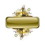 Drapeau ou bouton grunge et de pointe de vecteur. Images libres de droits