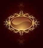 Drapeau ovale de bijou Photo stock
