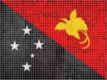 Drapeau Papouasie-Nouvelle-Guinée de mosaïque Photo stock